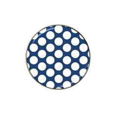 Dark Blue Polkadot Golf Ball Marker 4 Pack (for Hat Clip)
