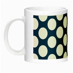 Dark Blue Polkadot Glow In The Dark Mug