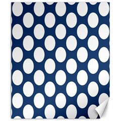 Dark Blue Polkadot Canvas 20  x 24  (Unframed)