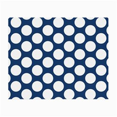 Dark Blue Polkadot Glasses Cloth (Small, Two Sided)
