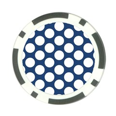 Dark Blue Polkadot Poker Chip (10 Pack)