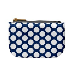Dark Blue Polkadot Coin Change Purse