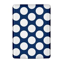 Dark Blue Polkadot Kindle 4 Hardshell Case