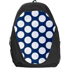 Dark Blue Polkadot Backpack Bag