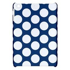 Dark Blue Polkadot Apple iPad Mini Hardshell Case