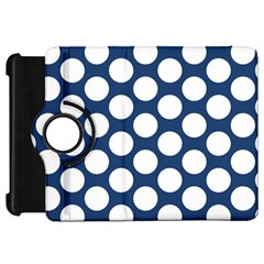 Dark Blue Polkadot Kindle Fire HD 7  (1st Gen) Flip 360 Case