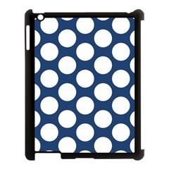 Dark Blue Polkadot Apple Ipad 3/4 Case (black)