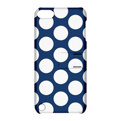 Dark Blue Polkadot Apple iPod Touch 5 Hardshell Case with Stand