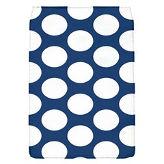 Dark Blue Polkadot Removable Flap Cover (Small)