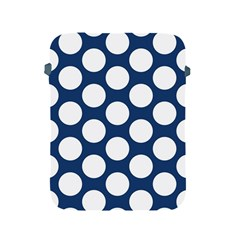 Dark Blue Polkadot Apple Ipad Protective Sleeve