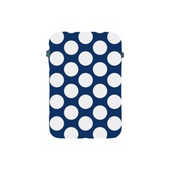 Dark Blue Polkadot Apple Ipad Mini Protective Sleeve