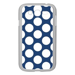 Dark Blue Polkadot Samsung Galaxy Grand DUOS I9082 Case (White)