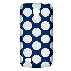 Dark Blue Polkadot Samsung Galaxy S4 Mini (GT-I9190) Hardshell Case