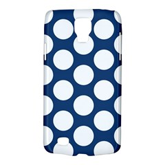Dark Blue Polkadot Samsung Galaxy S4 Active (I9295) Hardshell Case