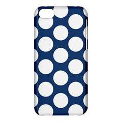 Dark Blue Polkadot Apple iPhone 5C Hardshell Case