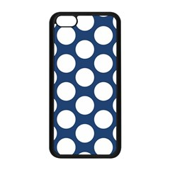Dark Blue Polkadot Apple iPhone 5C Seamless Case (Black)