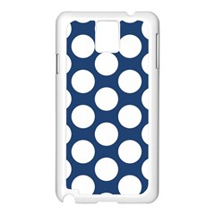 Dark Blue Polkadot Samsung Galaxy Note 3 N9005 Case (white)