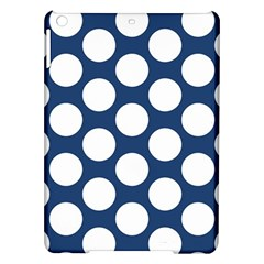 Dark Blue Polkadot Apple iPad Air Hardshell Case