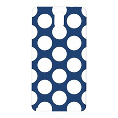 Dark Blue Polkadot Samsung Galaxy Note 3 N9005 Hardshell Back Case