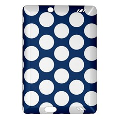 Dark Blue Polkadot Kindle Fire HD 7  (2nd Gen) Hardshell Case