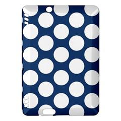 Dark Blue Polkadot Kindle Fire HDX 7  Hardshell Case