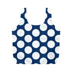 Dark Blue Polkadot Reusable Bag (M)