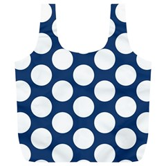 Dark Blue Polkadot Reusable Bag (XL)