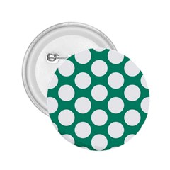 Emerald Green Polkadot 2.25  Button