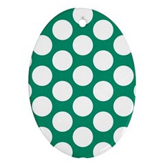Emerald Green Polkadot Oval Ornament
