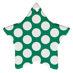 Emerald Green Polkadot Star Ornament