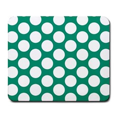 Emerald Green Polkadot Large Mouse Pad (rectangle)