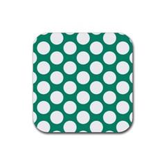 Emerald Green Polkadot Drink Coaster (Square)