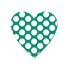 Emerald Green Polkadot Magnet (Heart)