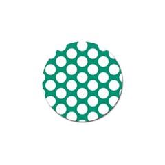 Emerald Green Polkadot Golf Ball Marker 4 Pack