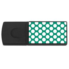 Emerald Green Polkadot 4GB USB Flash Drive (Rectangle)