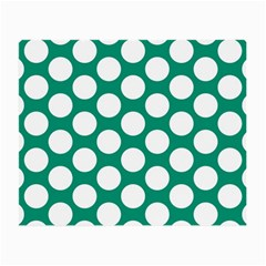 Emerald Green Polkadot Glasses Cloth (small, Two Sided)