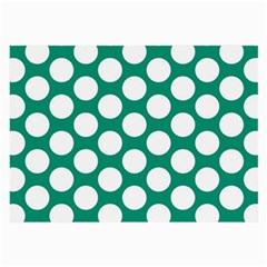 Emerald Green Polkadot Glasses Cloth (Large, Two Sided)