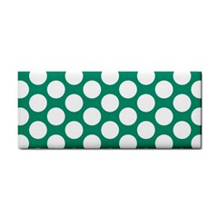 Emerald Green Polkadot Hand Towel