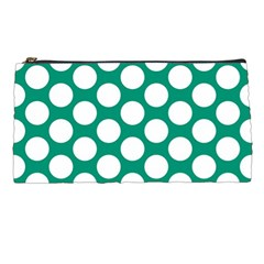 Emerald Green Polkadot Pencil Case