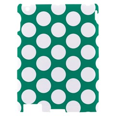 Emerald Green Polkadot Apple iPad 2 Hardshell Case