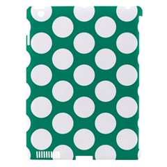 Emerald Green Polkadot Apple iPad 3/4 Hardshell Case (Compatible with Smart Cover)