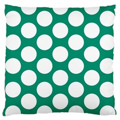 Emerald Green Polkadot Large Cushion Case (Two Sided)