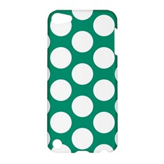 Emerald Green Polkadot Apple Ipod Touch 5 Hardshell Case