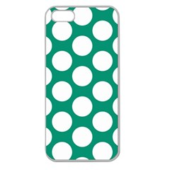 Emerald Green Polkadot Apple Seamless Iphone 5 Case (clear)