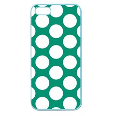 Emerald Green Polkadot Apple Seamless Iphone 5 Case (color)