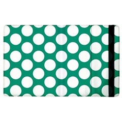 Emerald Green Polkadot Apple Ipad 2 Flip Case