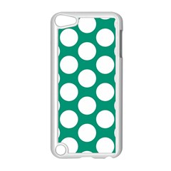 Emerald Green Polkadot Apple Ipod Touch 5 Case (white)