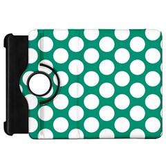 Emerald Green Polkadot Kindle Fire HD 7  (1st Gen) Flip 360 Case