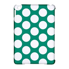 Emerald Green Polkadot Apple Ipad Mini Hardshell Case (compatible With Smart Cover)