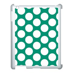 Emerald Green Polkadot Apple Ipad 3/4 Case (white)